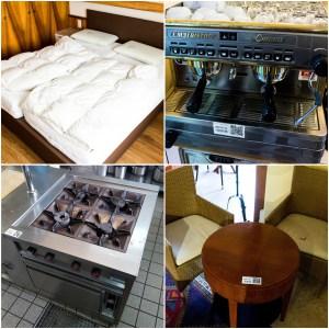 116 Positionen – Versteigerung komplette Hotelausstattung (Zimmer / Küche / Service)