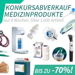 Konkursabverkauf Praxisbedarf! Bis – 70 % !